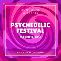 Psychedelische festivalaffiche vector
