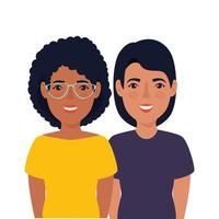 groep mooie vrouwen avatar karakter
