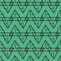 vector naadloze patroon, textuur achtergrond. hand getrokken, groene, zwarte kleuren.
