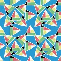 vector naadloze structuurpatroon als achtergrond. hand getekend, kleurrijk op blauwe achtergrond.