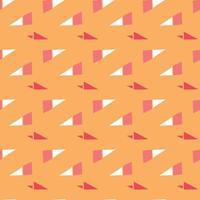 vector naadloze structuurpatroon als achtergrond. hand getrokken, oranje, rode, witte kleuren.