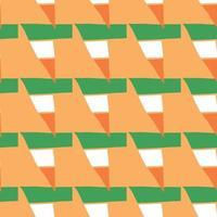 vector naadloze structuurpatroon als achtergrond. hand getrokken, oranje, groene, witte kleuren.