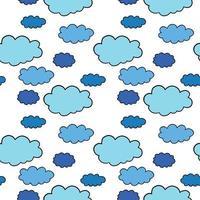 vector naadloze structuurpatroon als achtergrond. hand getrokken, blauwe, zwarte, witte kleuren.