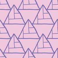 vector naadloze structuurpatroon als achtergrond. hand getrokken, roze, paarse kleuren.