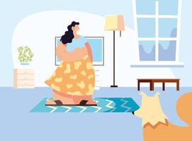 stel en huisdier in huis