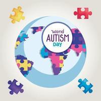 wereld autisme dag en wereldplaneet