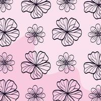 achtergrond van schattige bloemen naturals