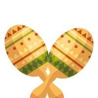 geïsoleerd Mexicaans maracas vectorontwerp