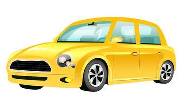 gele mini auto cartoon vectorillustratie vector
