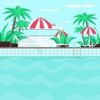zwembad egale kleur vectorillustratie