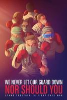 bewustmakingsposter om de gezondheidswerkers aan te moedigen die hun leven in de frontlinie riskeren