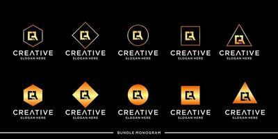 cr logo monogram bundel vector