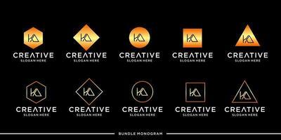 ka logo monogram bundel vector