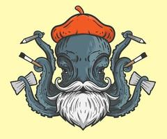 octopus kunstenaar illustratie vector