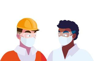 architect en operator met masker