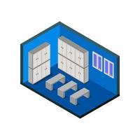 isometrische kleedkamer
