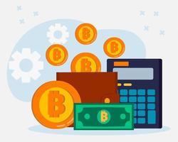 cryptocurrency exchange concept illustratie vector