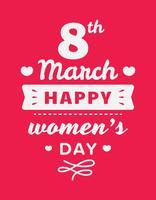 Fijne Vrouwendag vector