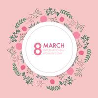 Roze uitnodiging voor internationale Vrouwendag vector