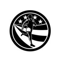 Amerikaanse marathonloper zwart en wit
