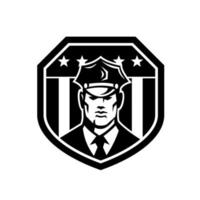 Amerikaanse politieagent of bewaker usa vlag