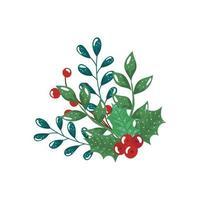 takken met bladeren en zaden geïsoleerd pictogram