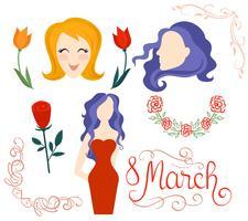 Internationale Vrouwendag Vectoren