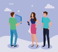 vergadering van zakenmensen avatar karakter