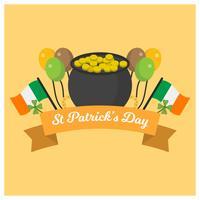 Flat St Patrick's Day vectorillustratie