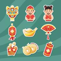 schattige stickers gong xi fa cai chinees