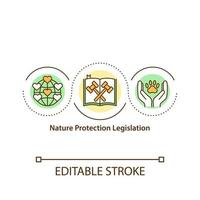 natuurbescherming wetgeving concept pictogram