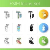 eco veilige producten pictogrammen instellen vector