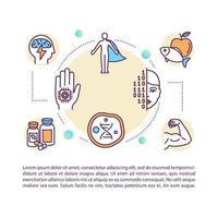 lichaam hacken concept pictogram met tekst
