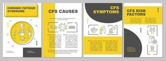 brochure sjabloon voor chronisch vermoeidheidssyndroom vector