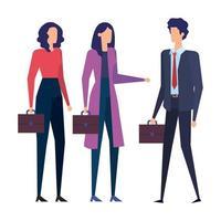 elegante avatars-karakters van mensen uit het bedrijfsleven