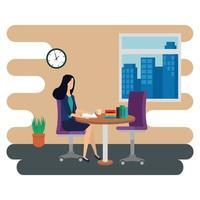 elegante zakenvrouw werknemer op kantoor