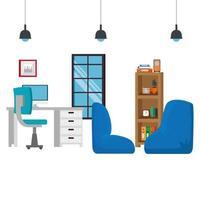 kantoor werkplek scène met desktop
