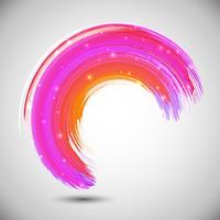 Abstract ontwerp met een slag van de waterverfborstel vector
