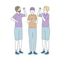 groep mensen avatars karakters