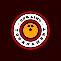 bowlen vector logo. moderne professionele typografie sport retro stijl vector embleem en sjabloon logo ontwerp. bowling blauw logo.