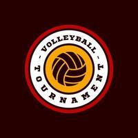 volleybal vector logo. moderne professionele typografie sport retro stijl vector embleem en sjabloon logo ontwerp. volleybal kleurrijk logo