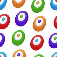 paaseieren vector naadloze patroon. schattige kinderachtige achtergrond in cartoon-stijl. naadloze patroon kan worden gebruikt voor achtergronden, inpakpapier, uitnodigingen, kaarten en etc.