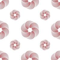 abstracte werveling of gedraaid geometrisch naadloos patroon. geometrische eenvoudige print. vector herhalende structuur. achtergrond vector.
