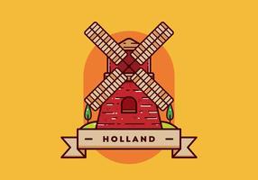 holland briefkaart vector
