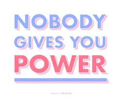 Internationale Vrouwendag Quote Vector Typografie