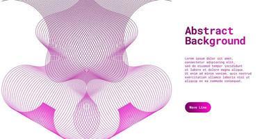abstracte achtergrond met dynamische paarse golflijnen vector