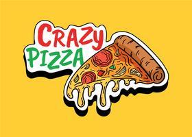 gekke pizza vector
