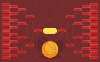Basketbaltoernooien Beugel Poster Sjabloon vector