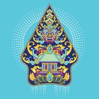 Vector Kleurrijke Gunungan Wayang Javanese van Indonesië