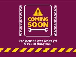 Website komt binnenkort op de bestemmingspagina vector